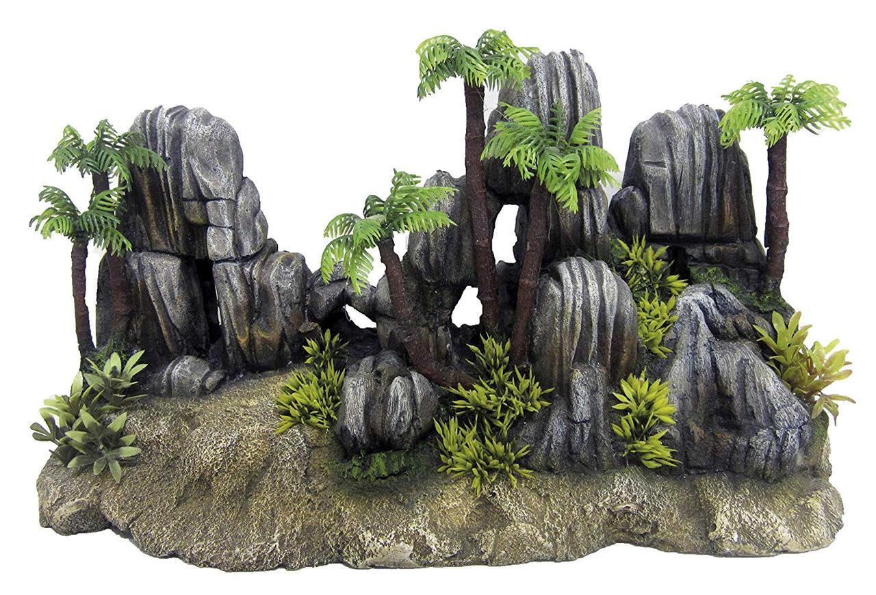 Декорация керамическая Скалы Фиджи 4, 38x13x30 см