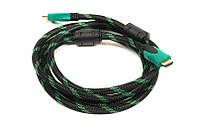 Видео кабель PowerPlant HDMI - HDMI, 2м, позолоченные коннекторы, 2.0V, Double ferrites, Highspeed
