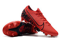 Футбольные бутсы Nike Mercurial Vapor XIII Elite FG Total Crimson/Black, фото 1