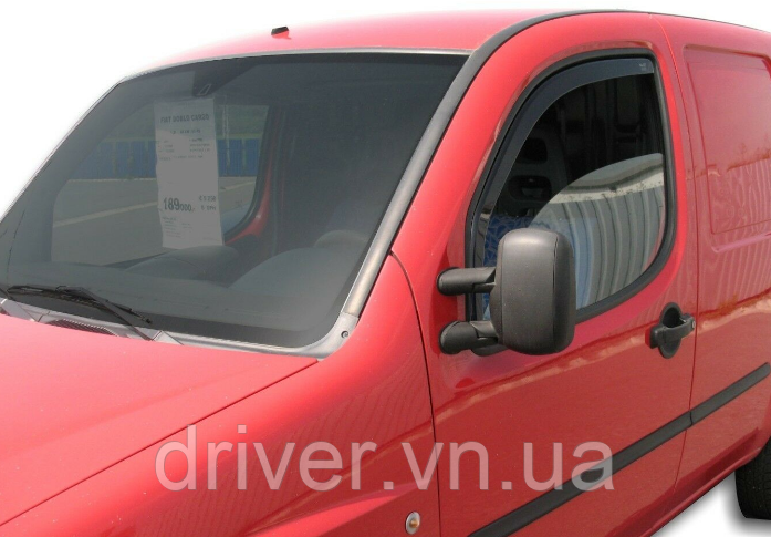 Дефлектори вікон вставні Fiat Doblo 2000-2010 2D, 2шт