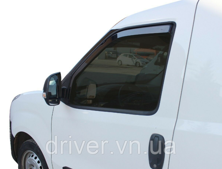 Дефлектори вікон вставні Fiat Doblo / Opel Combo 2010 -> 2D, 2шт