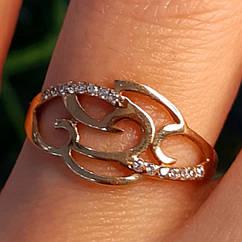 Золотое кольцо с цирконием - Женское кольцо из золота