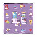 Детский манеж фиолетовый Carrello Grande прицепные кольца сумка матрасик дверца на молнии рождения до 3-х лет, фото 2