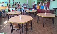 """Детский стол """"Трапеция"""" 1200×500 высота регулируеться в 3 позиции"""