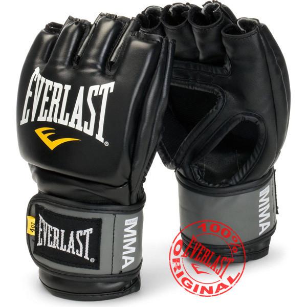 Боксерские перчатки оригинал. Перчатки тренировочные Everlast ММА Pro Style Grappling Gloves чёрный S/M