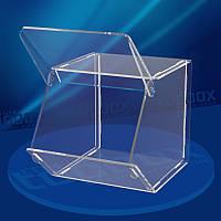 Акриловый прозрачный лоток для пищевых продуктов 250x300x400 мм, объем 30 л.
