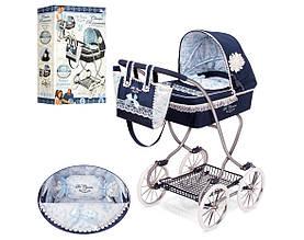Классическая коляска 80225 для кукол с сумочкой