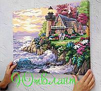 Картина 40×50 см замок дом у моря, природа