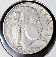 Монета Италии 20 чентезимо 1941 г.