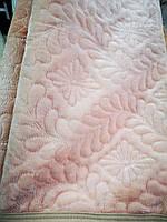 Покрывало меховое на две стороны стеганое розовый