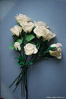 Розы из флористической глины (холодного фарфора)
