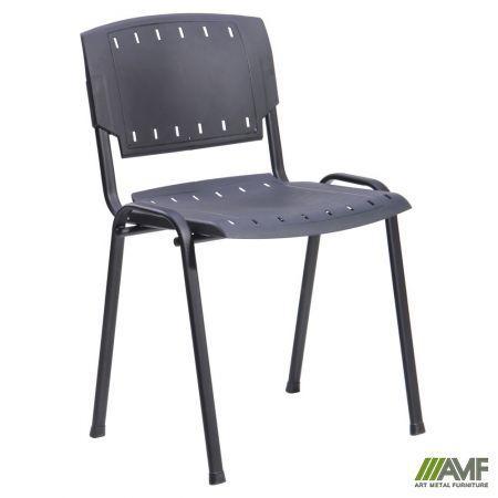 Офісний стілець Призма чорний пластик AMF