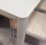 Стол обеденный T-300-11 молочный 110х60 см Vetro Mebel, фото 3
