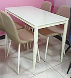 Стол обеденный T-300-11 молочный 110х60 см Vetro Mebel, фото 5