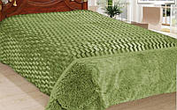 Плед-покрывало Норка Зелёный 210*230 см (двухсторонний)