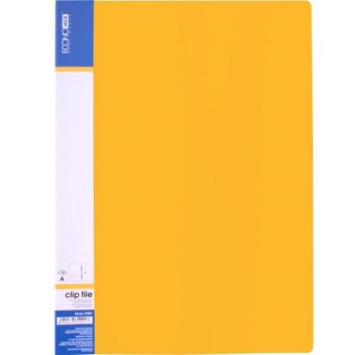 Папка-скоросшиватель А4 усы Клип А Е31201-05 желтая