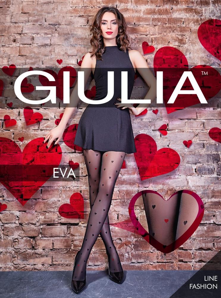 Фантазийные колготки Giulia Eva 20 den с узором сердечки