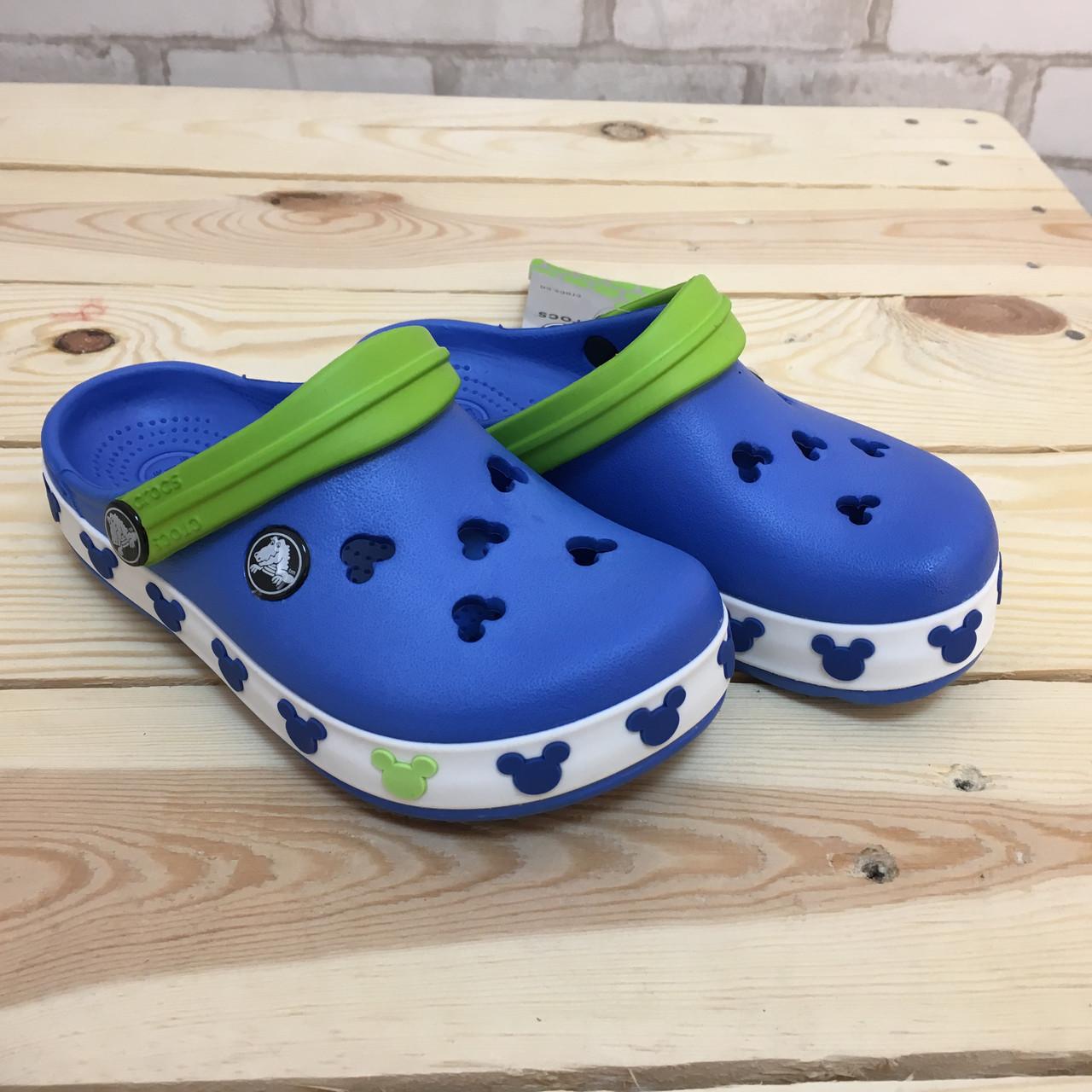 Детские кроксы Crocs Crocband Mickey ІI Kids 28-29 разм. С 12/13