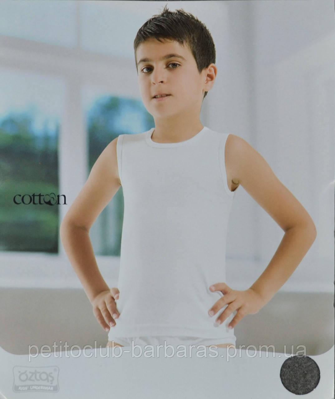 Футболка-безрукавка для хлопчика біла (OZTAS, Туреччина)