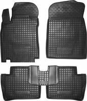 Коврики в салон Nissan Tiida 2006 -2011 черный, кт - 4шт