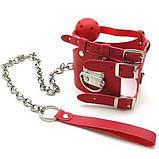 Красный кляп с цепью, фото 2