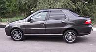 Дефлекторы окон Fiat Albea Sd 2007-2012 (Фиат Альбеа) Cobra Tuning