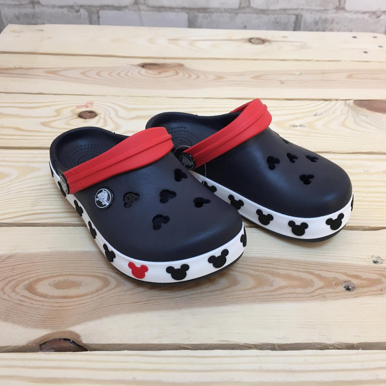 Кроксы детские Crocs Crocband Mickey ІI Kids темно-синие 26-27 разм. С 10/11