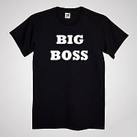 Футболка с индивидуальной надписью BIG BOSS черная 3