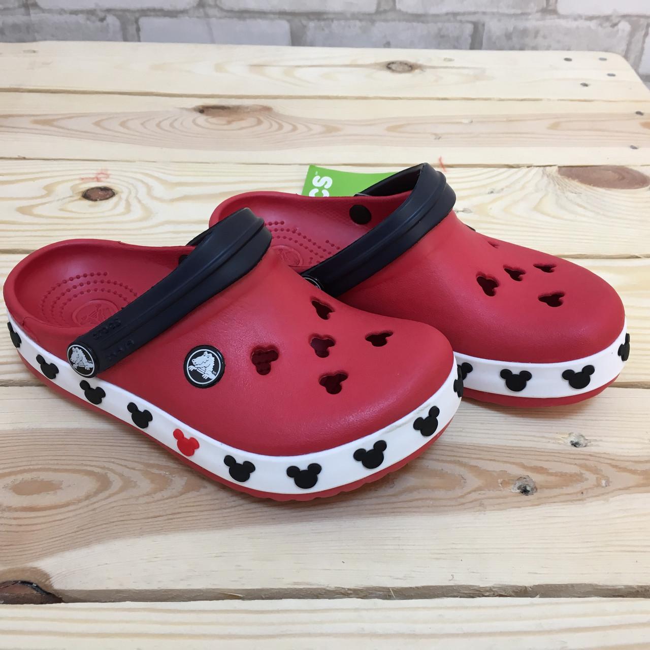 Детские кроксы Crocs Crocband Mickey ІI Kids 26-27 разм. С 10/11