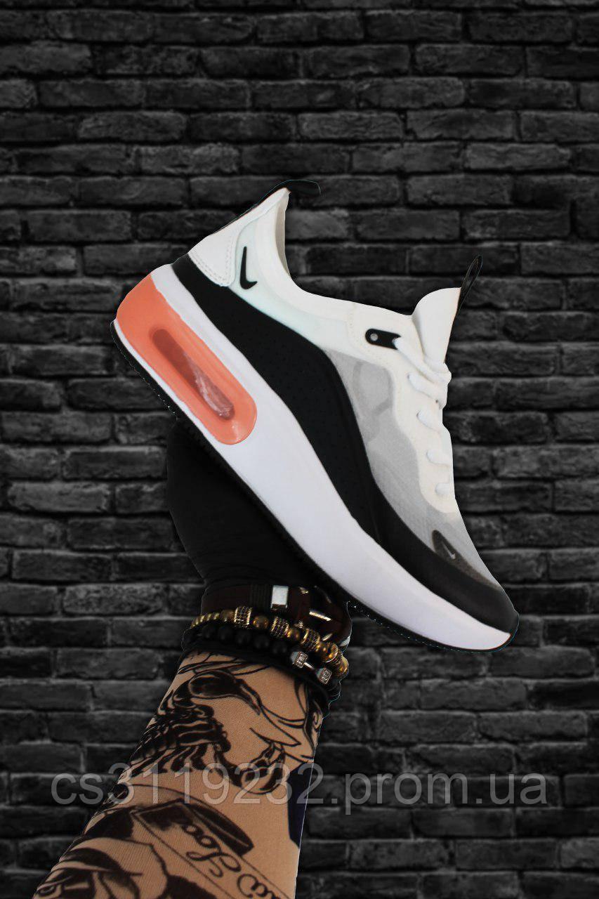 Мужские кроссовки Nike Air Max Dia White Grey (черно-белые)