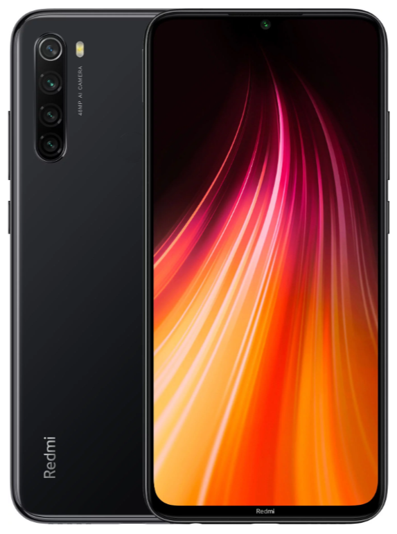 "Xiaomi Redmi Note 8 4/64 Gb Space Black, 6.3"", Snapdragon 665, 3G, 4G (Global)"