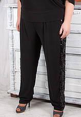 Нарядный костюм с брюками для полных женщин, фото 3
