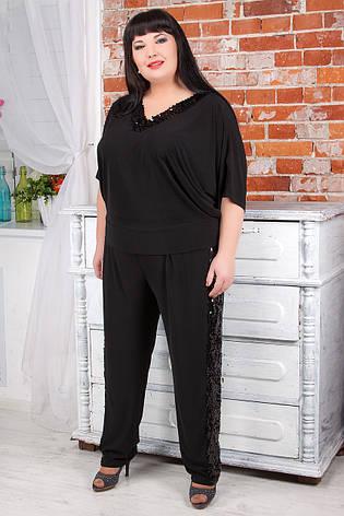 Нарядный костюм с брюками для полных женщин, фото 2