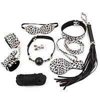Садо-мазо набор Leopard Bondage Kit - 8 предметов, фото 1