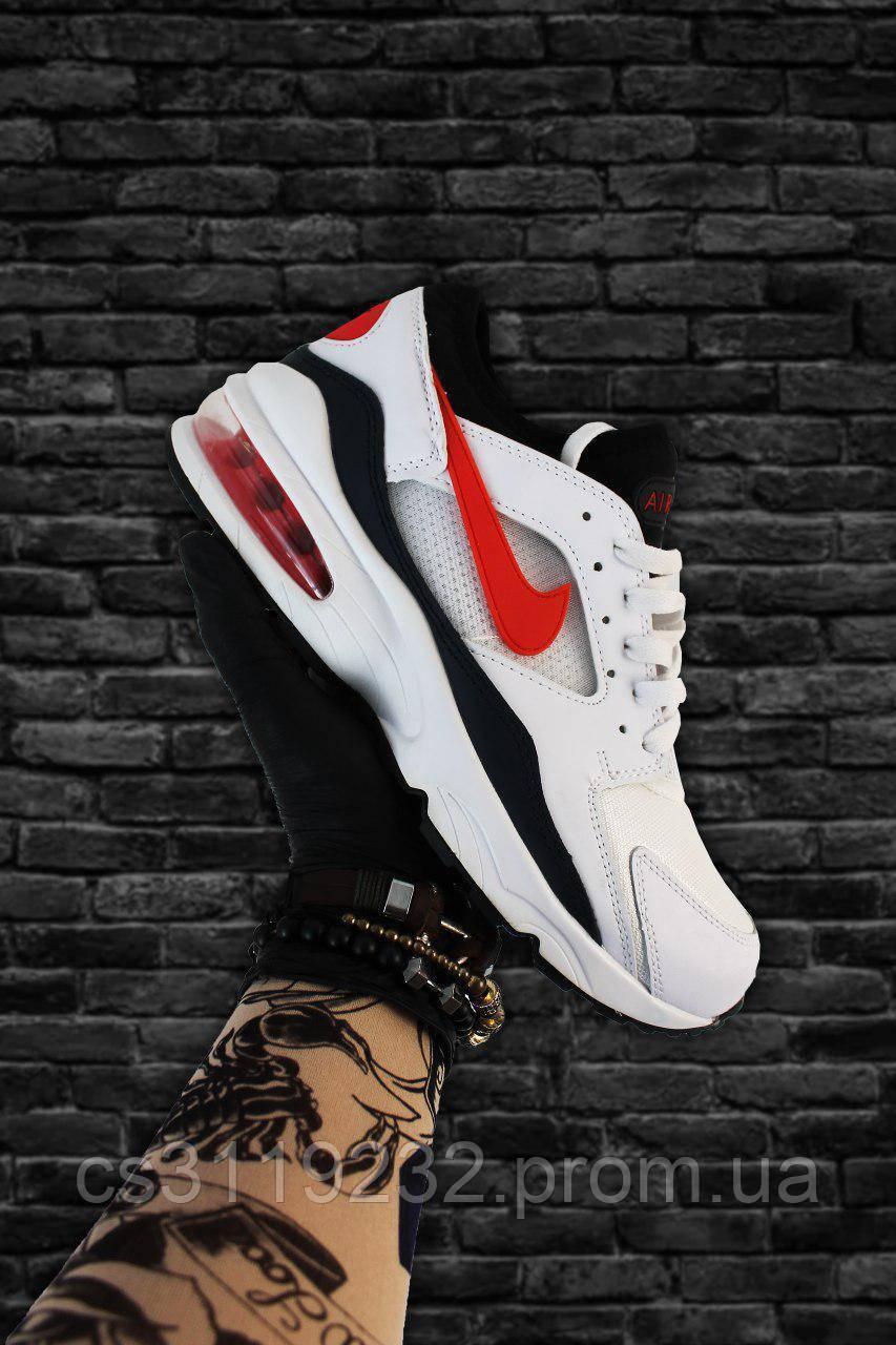Мужские кроссовки Nike Air Max 93 White (черно-белые)