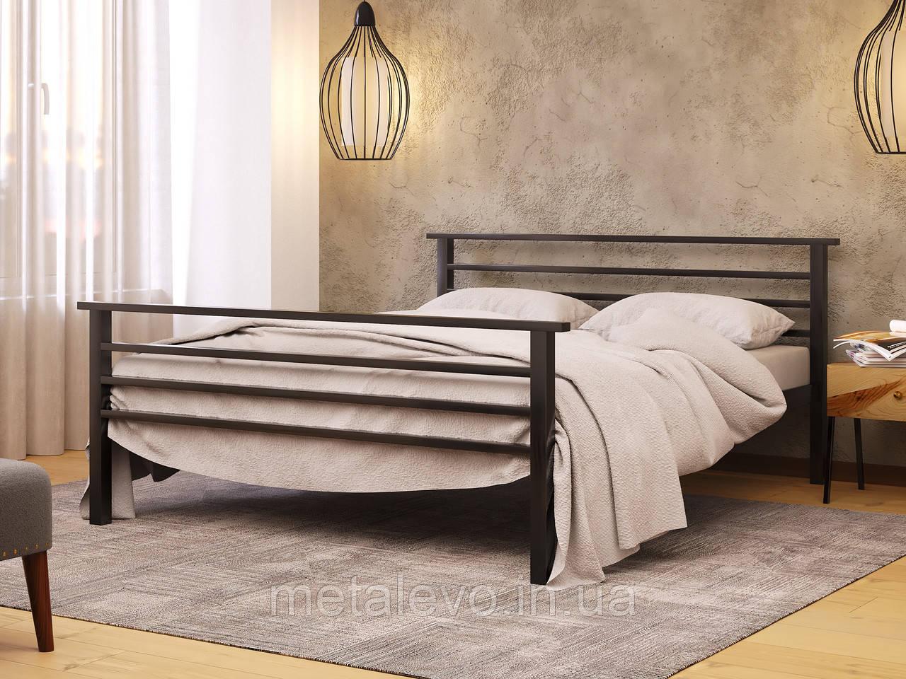 Металлическая кровать с изножьем ЛЕКС-2 (LEX-2)