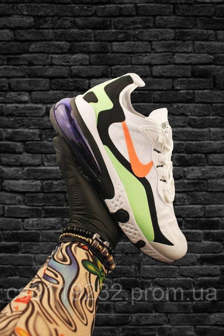 Чоловічі кросівки Nike Air Max 270 x React Element White Green (біло-зелені)
