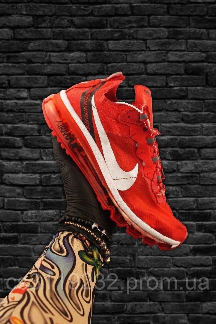 Чоловічі кросівки Nike Air Max x React Element Red (червоні)