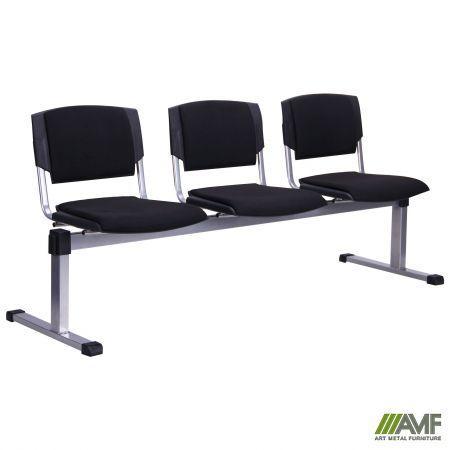Офисный стул Призма 3-х рядный алюминиевый/ткань А AMF