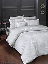 Комплект постельного белья сатин Moonlight first choice евро размер Buhara Beyaz