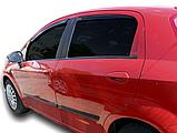 Дефлектори вікон вставні Fiat Grande Punto 5D 2006->, 4шт, фото 3
