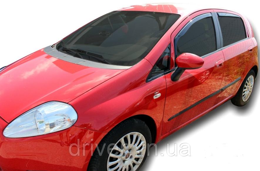 Дефлектори вікон вставні Fiat Grande Punto 5D 2006->, 4шт