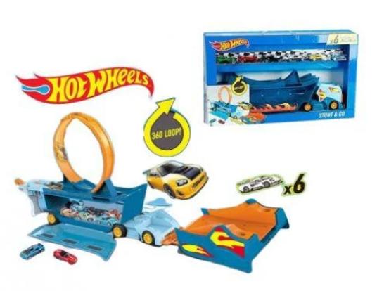 Пусковой трек Автовоз Hot Wheels Хот Вилс 6 машинок