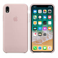 Чехол Silicone Case для Apple iPhone XR Бледно - Розовый