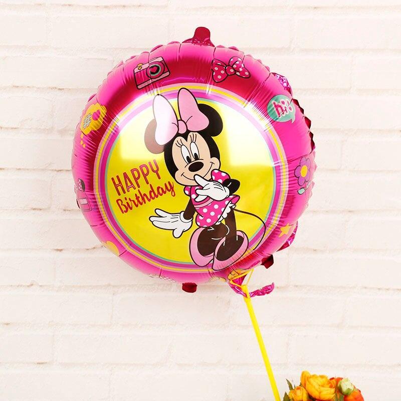 Воздушный фольгированный шар Happy Birthday Мини Маус 1681