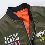 Flying Gerius original чоловіча куртка мілітарі вітровка демисезон, фото 7