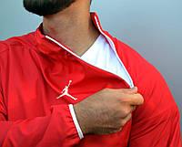 Анорак (ветровка) Jordan красный