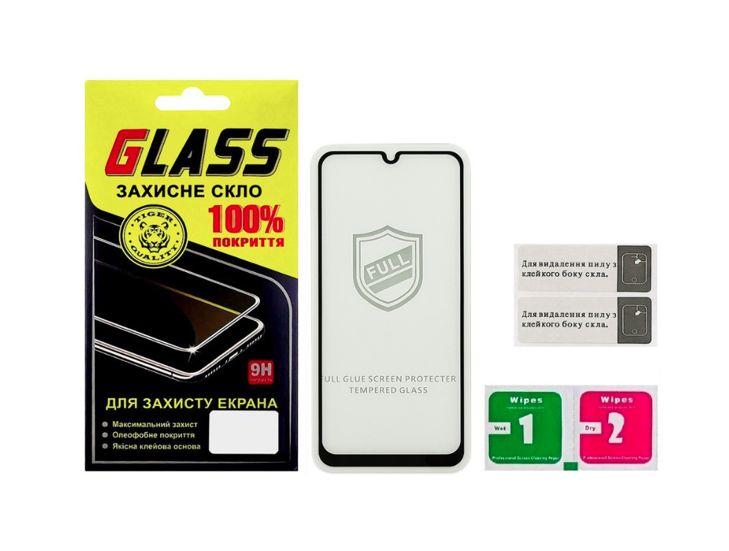 Защитное стекло для SAMSUNG A307 Galaxy A30S (2019) Full Glue (0.25 мм, 2.5D, чёрное) Люкс