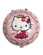 Шар фольгированный круглый Hello Kitty 1415
