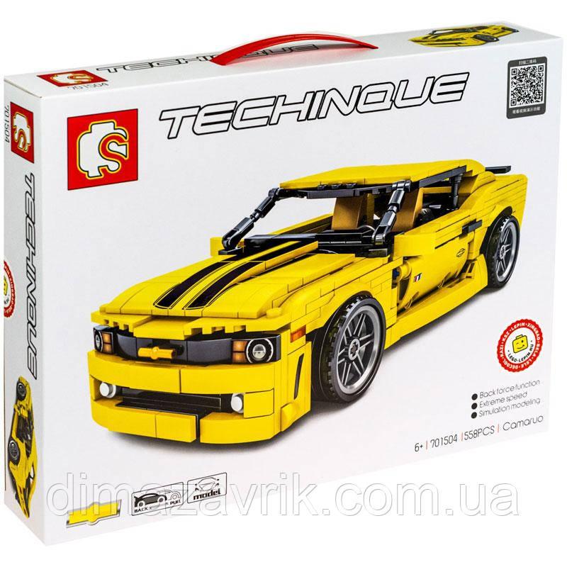 """Конструктор Sembo 701504 (Аналог Lego Technic) """"Спорткар Camaro"""" 558 деталей"""